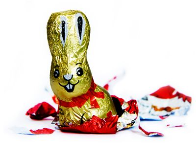Chocolate Bunny with Foil