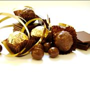 Chocolate Sweets with Gold Foil
